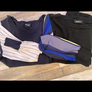 Two DKNY sweaters with blousy sleeves!